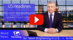 ESQ Recruiting Legal talent Thumbnail with red play button.